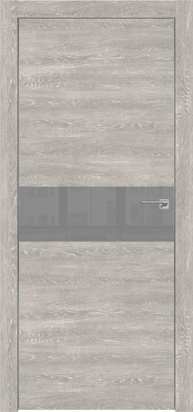 Межкомнатная дверь ZM003 (экошпон «серый дуб патина» / лакобель серый)