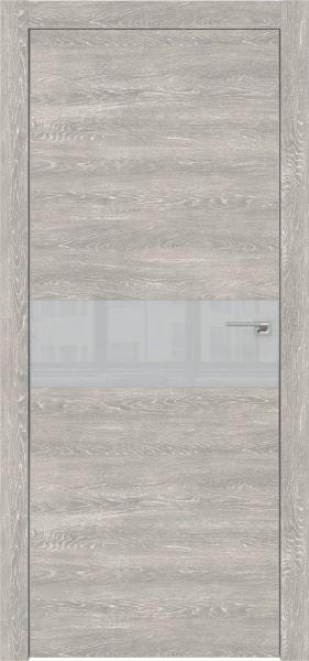 Межкомнатная дверь ZM003 (экошпон «серый дуб патина» / лакобель светло-серый)