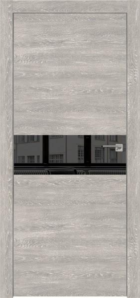 Межкомнатная дверь ZM003 (экошпон «серый дуб патина» / зеркало тонированное)