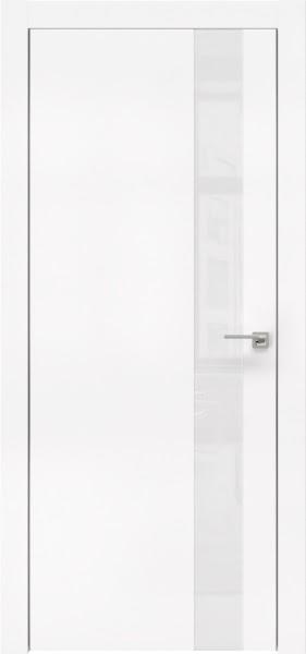 Межкомнатная дверь ZM004 (экошпон белый / лакобель белый)