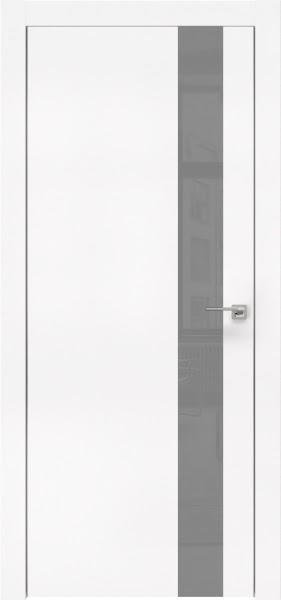 Межкомнатная дверь ZM004 (экошпон белый / лакобель серый)
