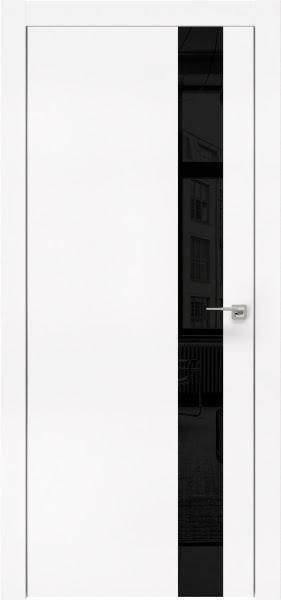 Межкомнатная дверь ZM004 (экошпон белый / лакобель черный)