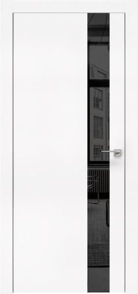 Межкомнатная дверь ZM004 (экошпон белый / зеркало тонированное)