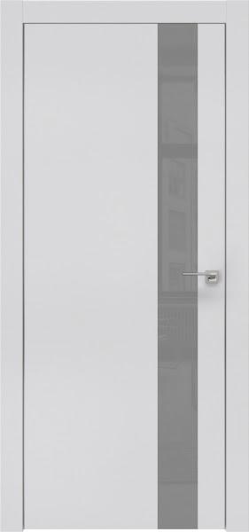 Межкомнатная дверь ZM004 (экошпон светло-серый / лакобель серый)