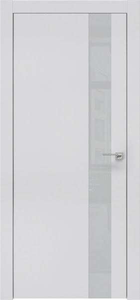 Межкомнатная дверь ZM004 (экошпон светло-серый / лакобель светло-серый)