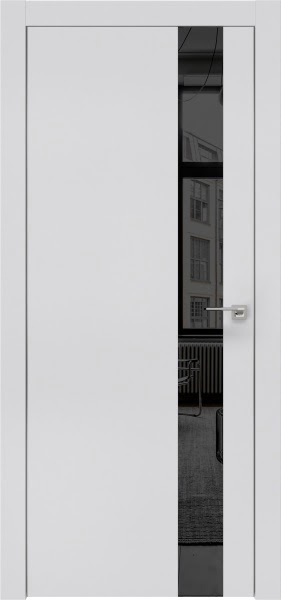 Межкомнатная дверь ZM004 (экошпон светло-серый / зеркало тонированное)