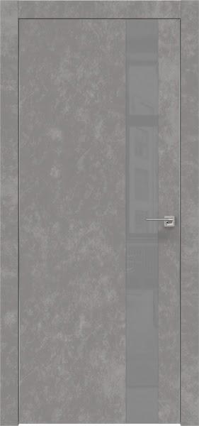 Межкомнатная дверь ZM004 (экошпон «бетон» / лакобель серый)