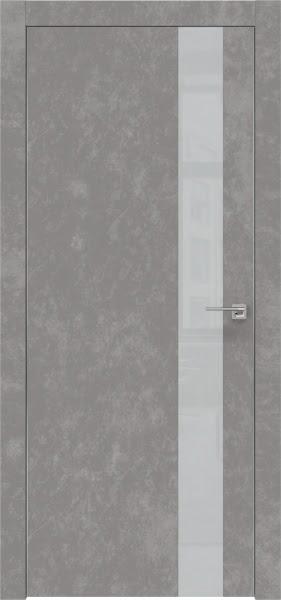 Межкомнатная дверь ZM004 (экошпон «бетон» / лакобель светло-серый)