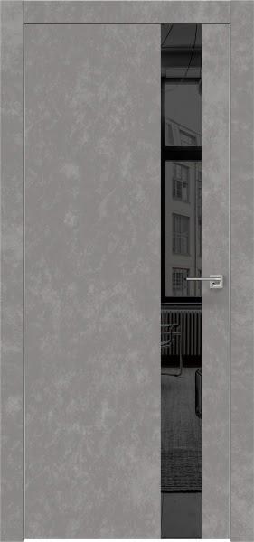 Межкомнатная дверь ZM004 (экошпон «бетон» / зеркало тонированное)