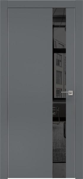 Межкомнатная дверь ZM004 (экошпон «графит» / зеркало тонированное)