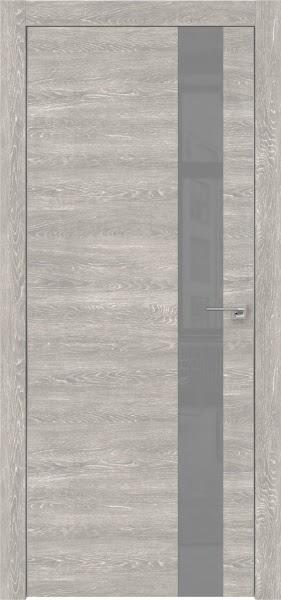 Межкомнатная дверь ZM004 (экошпон «серый дуб патина» / лакобель серый)