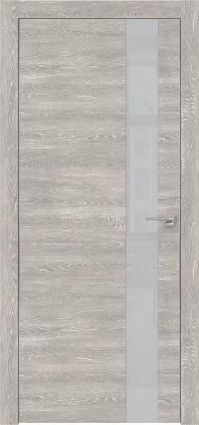Межкомнатная дверь ZM004 (экошпон «серый дуб патина» / лакобель светло-серый)