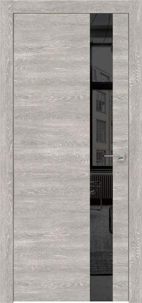 Межкомнатная дверь ZM004 (экошпон «серый дуб патина» / зеркало тонированное)