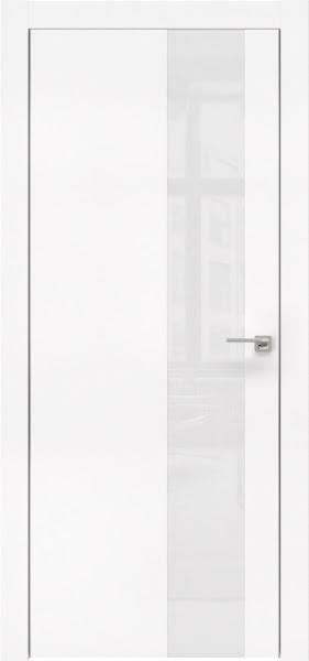 Межкомнатная дверь ZM005 (экошпон белый / лакобель белый)