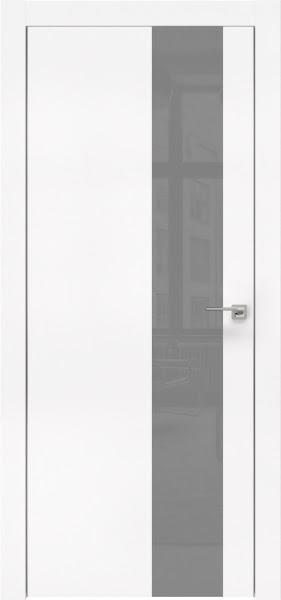 Межкомнатная дверь ZM005 (экошпон белый / лакобель серый)