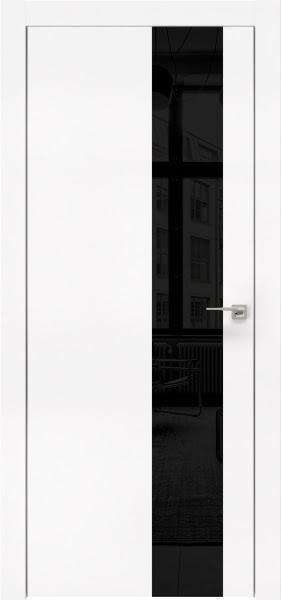 Межкомнатная дверь ZM005 (экошпон белый / лакобель черный)