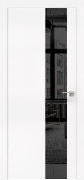 Межкомнатная дверь ZM005 (экошпон белый / зеркало тонированное)