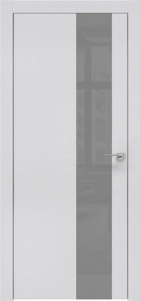Межкомнатная дверь ZM005 (экошпон светло-серый / лакобель серый)