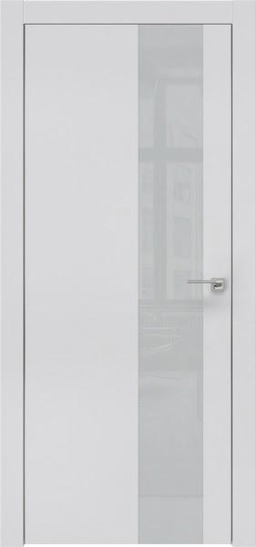 Межкомнатная дверь ZM005 (экошпон светло-серый / лакобель светло-серый)