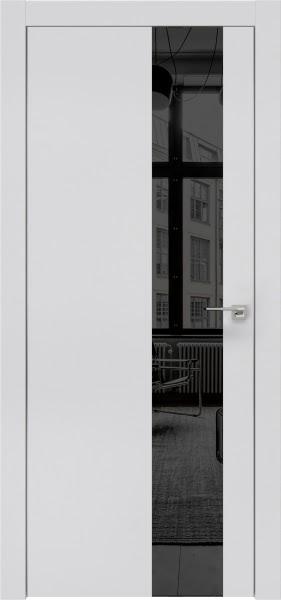 Межкомнатная дверь ZM005 (экошпон светло-серый / зеркало тонированное)