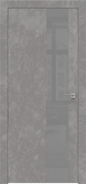Межкомнатная дверь ZM005 (экошпон «бетон» / лакобель серый)