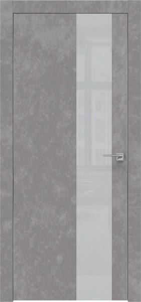 Межкомнатная дверь ZM005 (экошпон «бетон» / лакобель светло-серый)