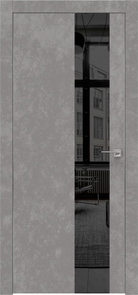 Межкомнатная дверь ZM005 (экошпон «бетон» / зеркало тонированное)