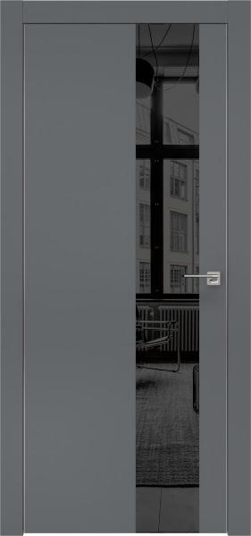 Межкомнатная дверь ZM005 (экошпон «графит» / зеркало тонированное)