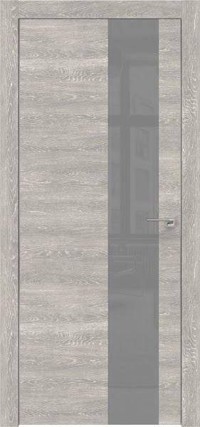 Межкомнатная дверь ZM005 (экошпон «серый дуб патина» / лакобель серый)