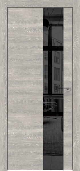 Межкомнатная дверь ZM005 (экошпон «серый дуб патина» / зеркало тонированное)