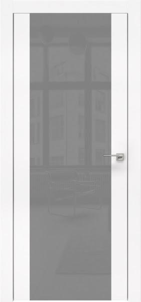Межкомнатная дверь ZM006 (экошпон белый / лакобель серый)