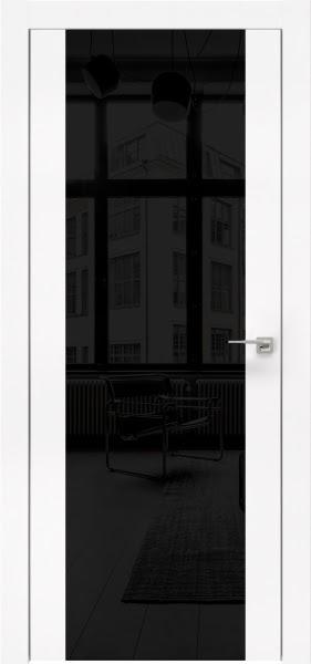 Межкомнатная дверь ZM006 (экошпон белый / лакобель черный)
