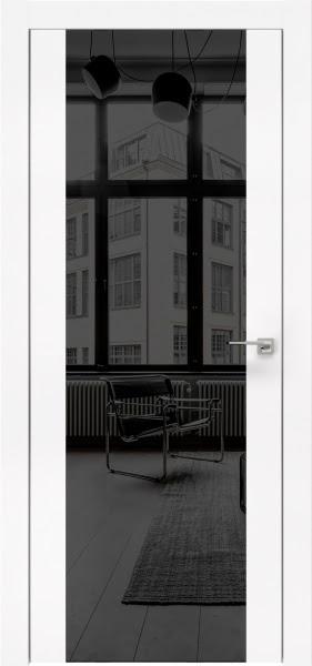 Межкомнатная дверь ZM006 (экошпон белый / зеркало тонированное)