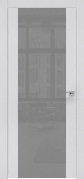 Межкомнатная дверь ZM006 (экошпон светло-серый / лакобель серый)