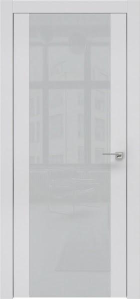 Межкомнатная дверь ZM006 (экошпон светло-серый / лакобель светло-серый)