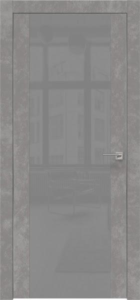 Межкомнатная дверь ZM006 (экошпон «бетон» / лакобель серый)