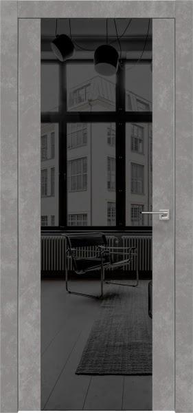 Межкомнатная дверь ZM006 (экошпон «бетон» / зеркало тонированное)