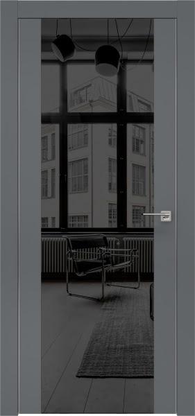 Межкомнатная дверь ZM006 (экошпон «графит» / зеркало тонированное)