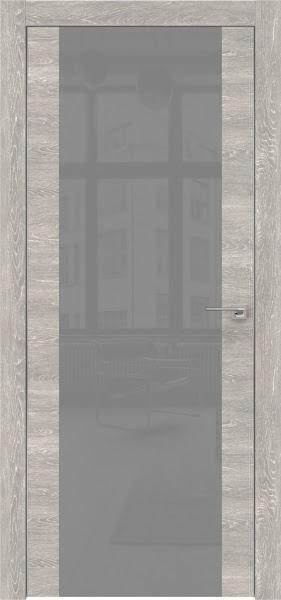 Межкомнатная дверь ZM006 (экошпон «серый дуб патина» / лакобель серый)