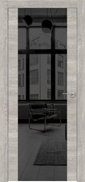 Межкомнатная дверь ZM006 (экошпон «серый дуб патина» / зеркало тонированное)
