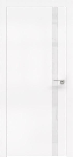 Межкомнатная дверь ZM007 (экошпон белый / лакобель белый)