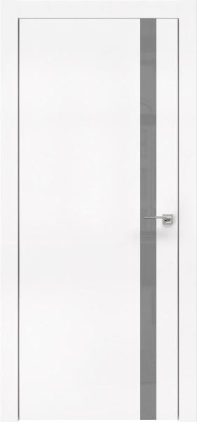 Межкомнатная дверь ZM007 (экошпон белый / лакобель серый)