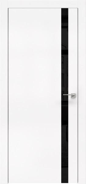 Межкомнатная дверь ZM007 (экошпон белый / лакобель черный)