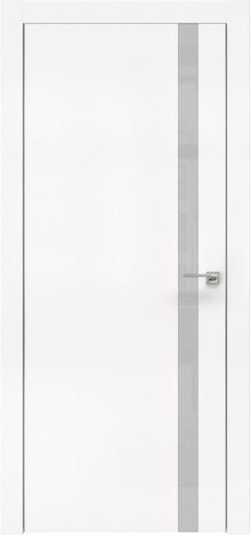 Межкомнатная дверь ZM007 (экошпон белый / лакобель светло-серый)
