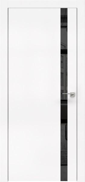 Межкомнатная дверь ZM007 (экошпон белый / зеркало тонированное)