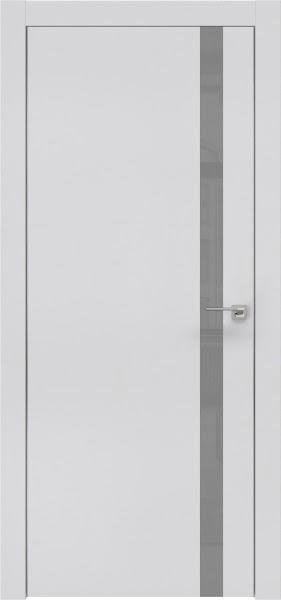 Межкомнатная дверь ZM007 (экошпон светло-серый / лакобель серый)
