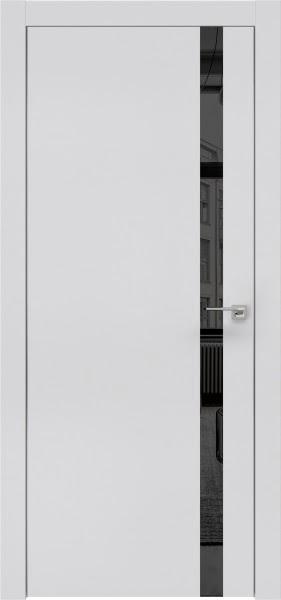 Межкомнатная дверь ZM007 (экошпон светло-серый / зеркало тонированное)