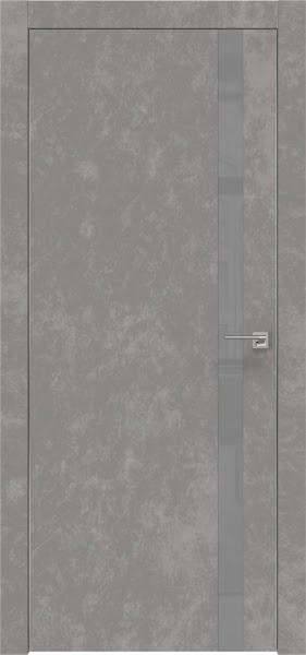Межкомнатная дверь ZM007 (экошпон «бетон» / лакобель серый)