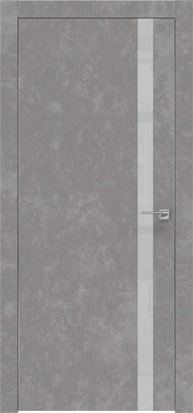 Межкомнатная дверь ZM007 (экошпон «бетон» / лакобель светло-серый)