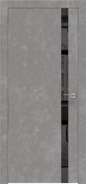 Межкомнатная дверь ZM007 (экошпон «бетон» / зеркало тонированное)